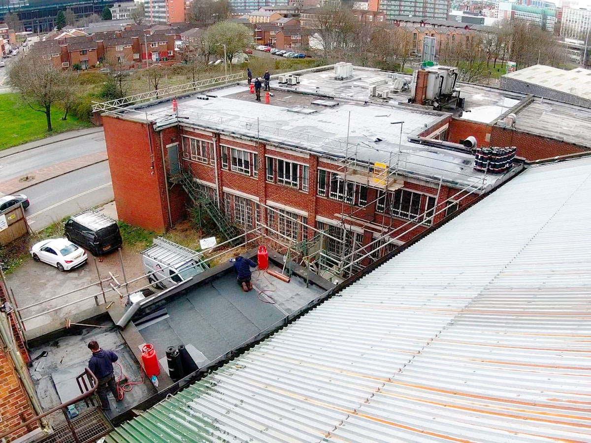 Commercial Roofing in Rochdale (Before)
