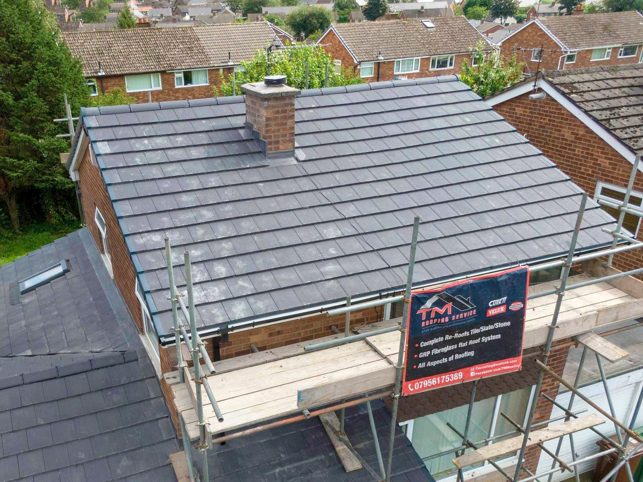 Re-Roof in Whitefield (After)