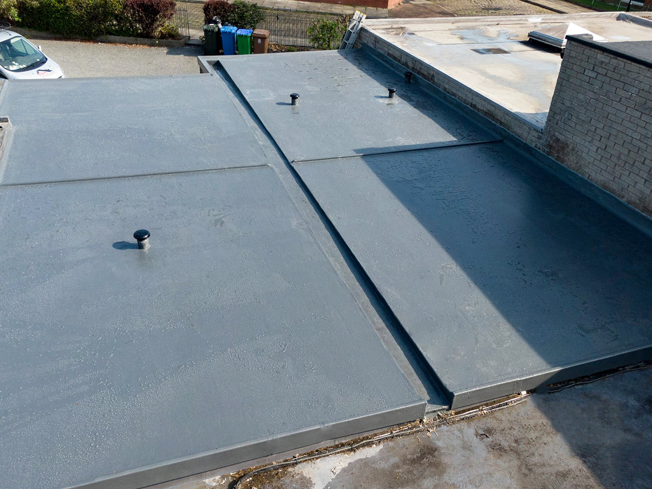 GRP Fibreglass Flat Roof in Rochdale